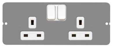 PLATE 2G SWITCH SOCKET OUTLET