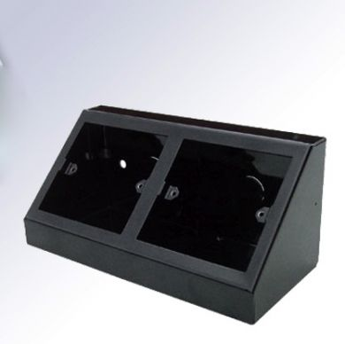 2 x Single Pedestal Black