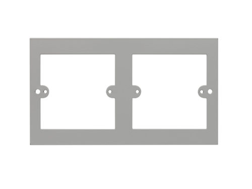 2 x 1 Gang Outlet Plate 3 Compt