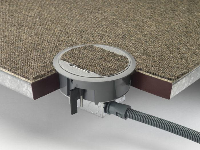 13a RCD Swiched Power Grommet Inc Carpet Recess