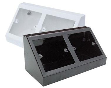 2 x Single Outlet Pedestal Boxes